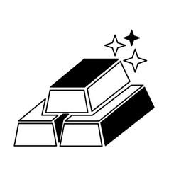 ingots gold isolated icon vector image