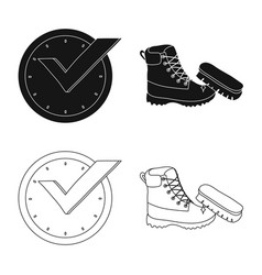 isolated object of laundry and clean icon set of vector image