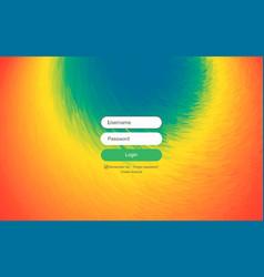 login user interface modern screen design for vector image
