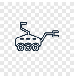 Mars rover concept linear icon isolated on vector