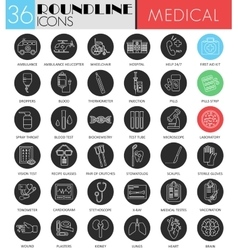Medical medicine circle white black icon vector image