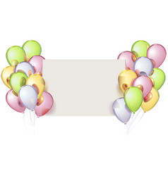 mirror balloons with paper card vector image