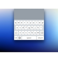 mobile screen keyboard template for smartphone vector image