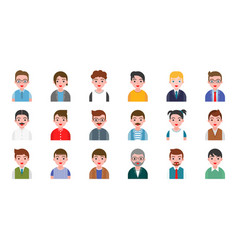 Office business male people avatar character flat vector