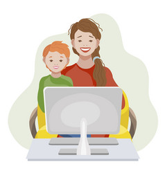 online education and learning for kids concept vector image