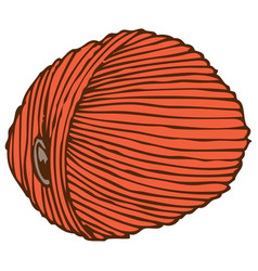 Orange hank of yarn vector