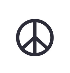 peace sign isolated on white vector image