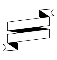 Pictogram ribbon banner blank design vector