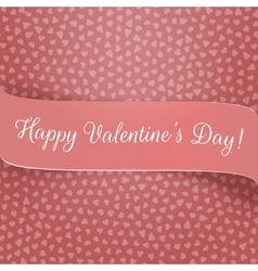 Pink Ribbon with Valentines Day Greeting vector