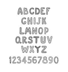 Positive alphabet for children vector