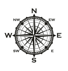 rose of winds icon navigator compass vector image