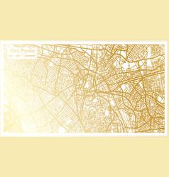 sao paulo brazil city map in retro style vector image