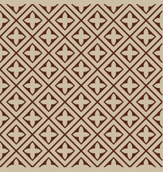 seamless - beige brown tile pattern vector image
