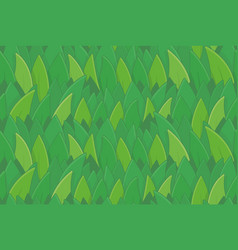 seamless pattern with green grass vector image