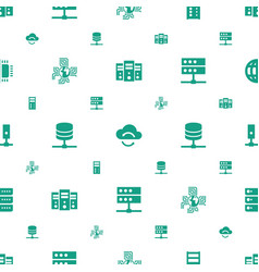 Server icons pattern seamless white background vector
