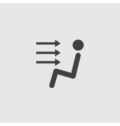 Sitting man icon vector image