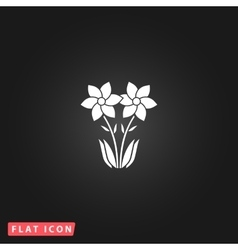 Spring flowers growing vector