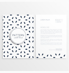 Stylish letterhead design in minimal style vector