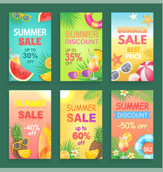 Summer discount and offer vector