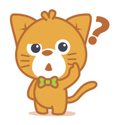 thinking cat character style collection vector image