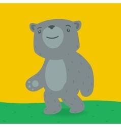 Toy bear walking on grass vector