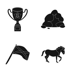 Training travel and or web icon in black style vector