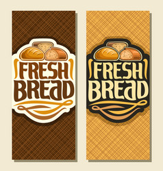 Vertical banners for bread vector