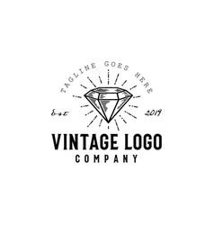 vintage diamond vector image