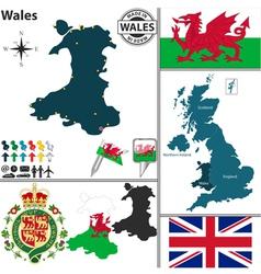 Wales map vector