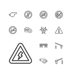 Warning icons vector