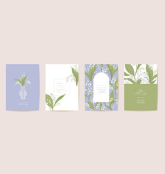watercolor mother day card set greeting mom vector image