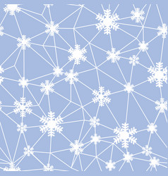 web of christmas snowflakes seamless pattern vector image