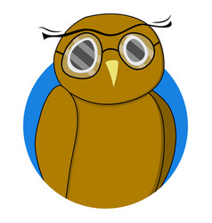 wise owl sticker vector image