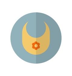Flat style bib icon vector image