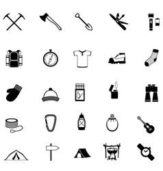 Icons of survival in the wild vector image