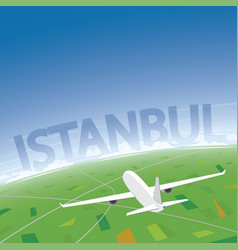 istanbul flight destination vector image vector image