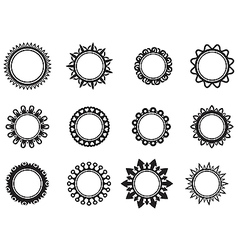 Set template in the form of a circle vector image