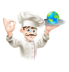 world on a plate vector image