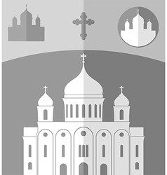 Cathedral of Christ the Saviour Russia vector image
