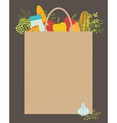 Grocery bag vector image