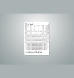 photo frame social on transparent background vector image