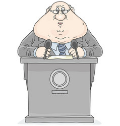 politician giving a speech vector image