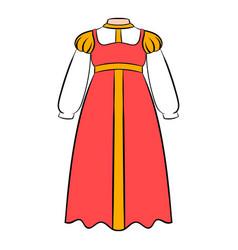 russian national sarafan icon cartoon vector image vector image