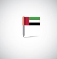 UAE flag pin vector image