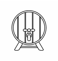 Beer barrel icon outline style vector image