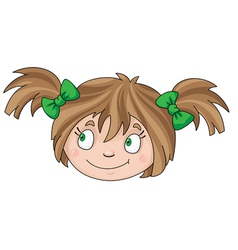 face of girl vector image vector image