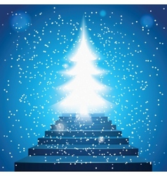stairway to christmas vector image