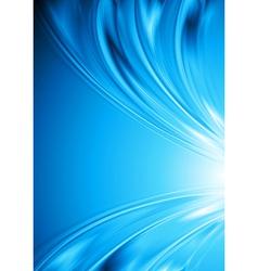 Bright blue wavy design vector image