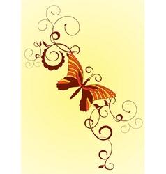 decorative vector orange butterfly vector image vector image