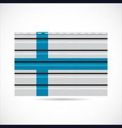 Finland siding produce company icon vector image vector image